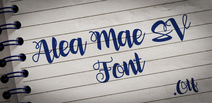 Alea Mae SV Font poster