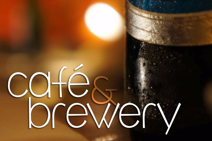 café & brewery Font poster
