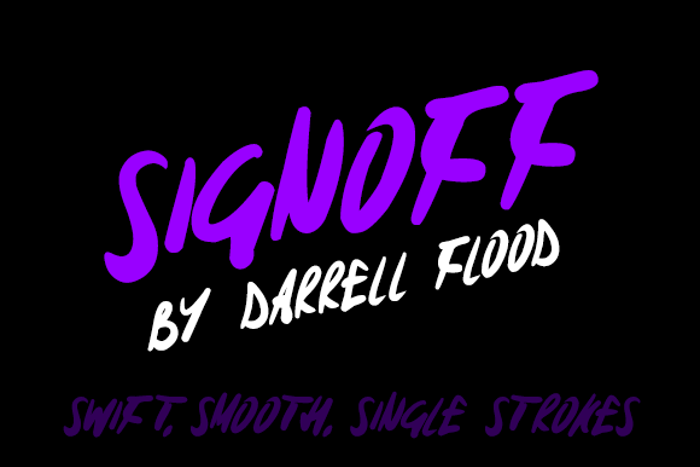 Signoff Font poster