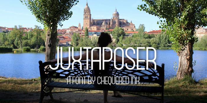 Juxtaposer Font poster