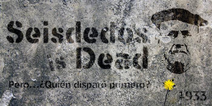 Seisdedos Dead Font poster