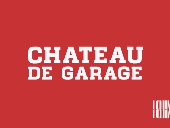 Chateau de Garage Font poster