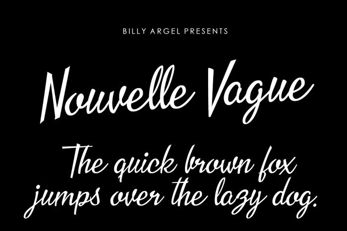Nouvelle Vague Font poster