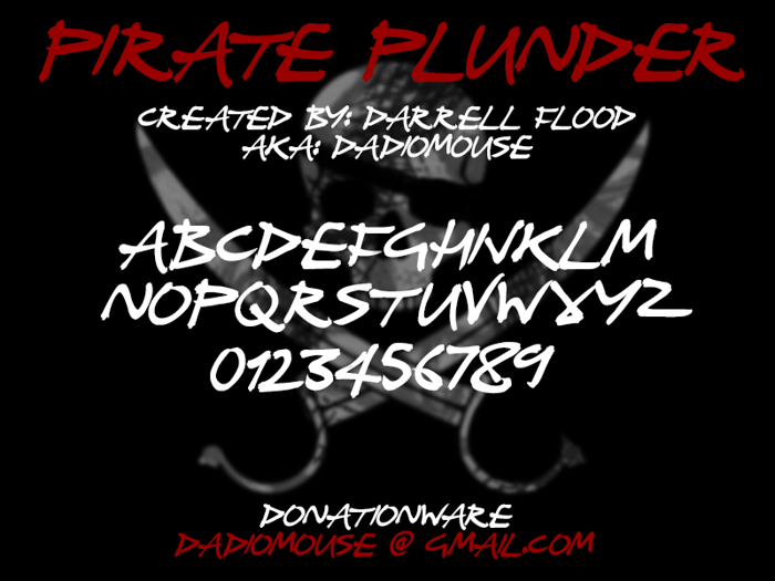 Pirate Plunder Font poster