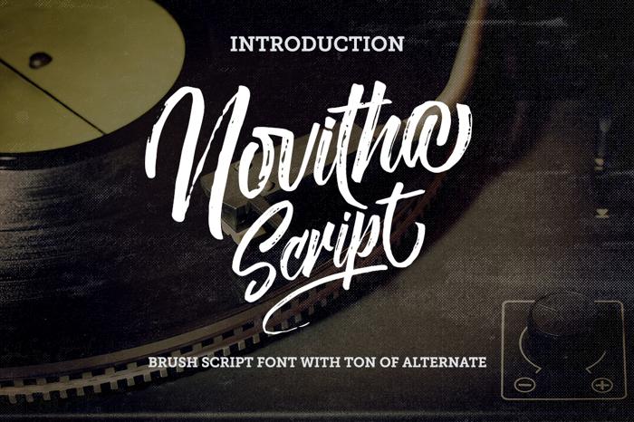 Novitha ScriptDemo Font poster