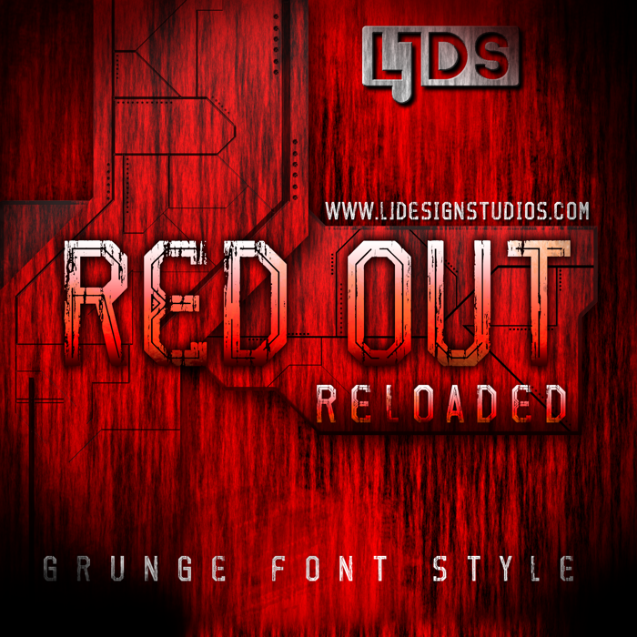 Red Out Reloaded Font poster