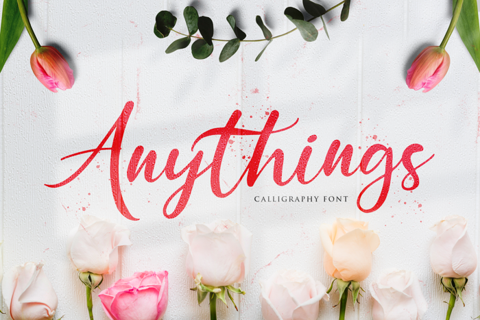 Anythings Font poster
