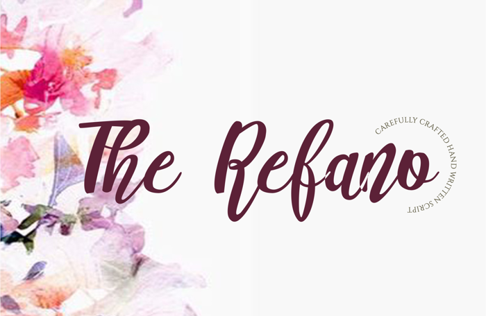 The Refano Font poster