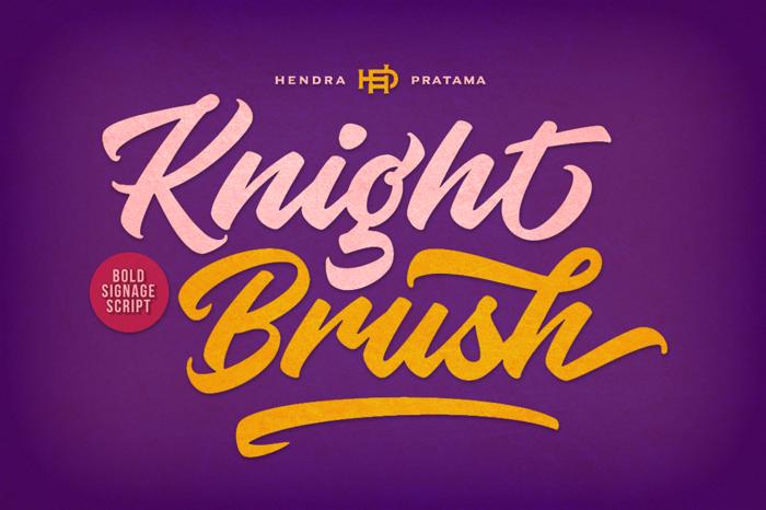 Knight Brush Font poster