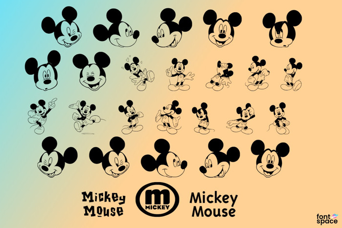 Mickey M TFB Font poster