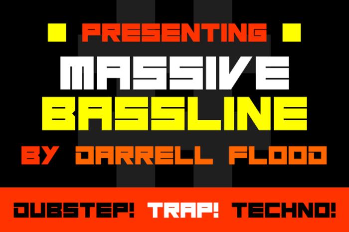 Massive Bassline Font poster