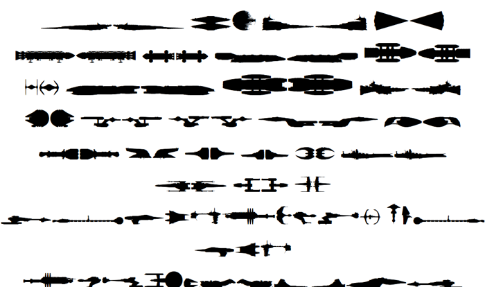 Famous Spaceships Font poster
