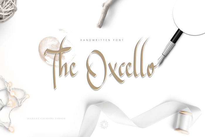 The Oxcello Font poster