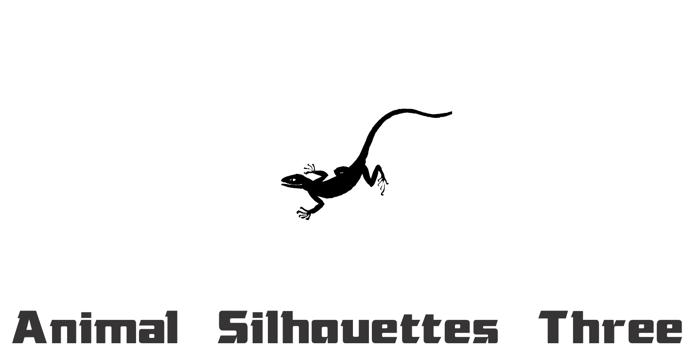 Animal Silhouettes Three Font