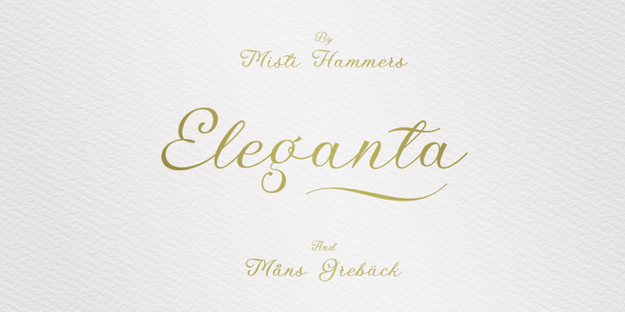 Eleganta Font poster