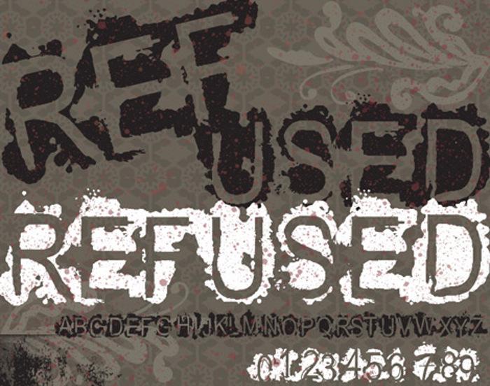 VTKS REFUSED Font poster