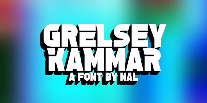 Grelsey Kammar Font poster