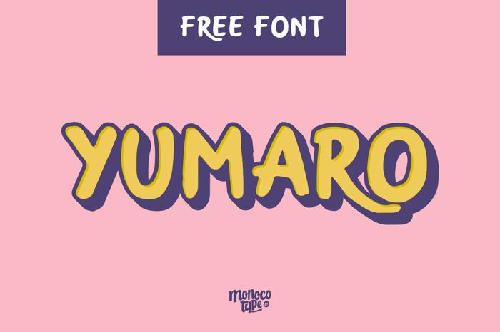Yumaro Font poster