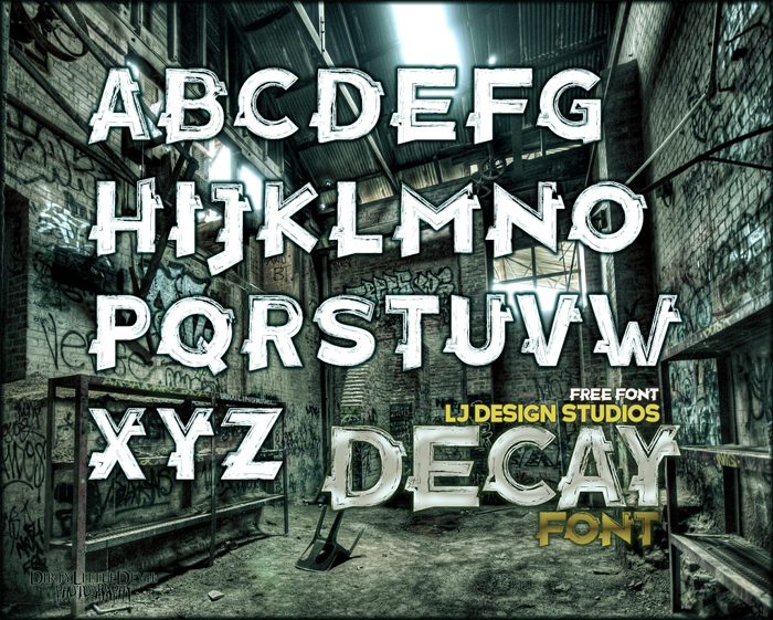 Decay Font poster