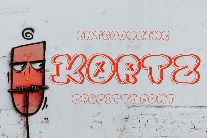 kortz Font poster