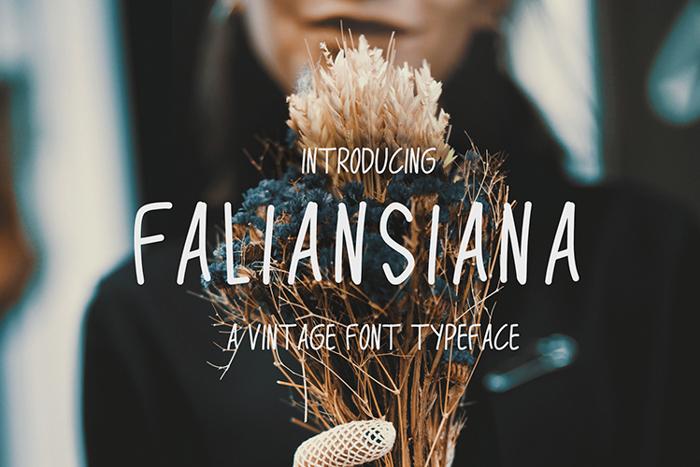 Faliansiana Font poster