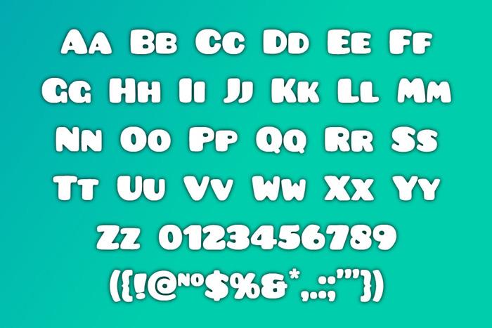 Pusab Font poster