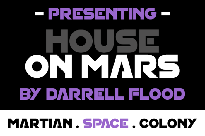 House On Mars Font poster