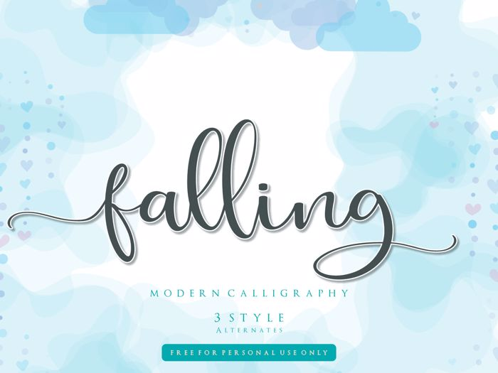 falling for Font poster