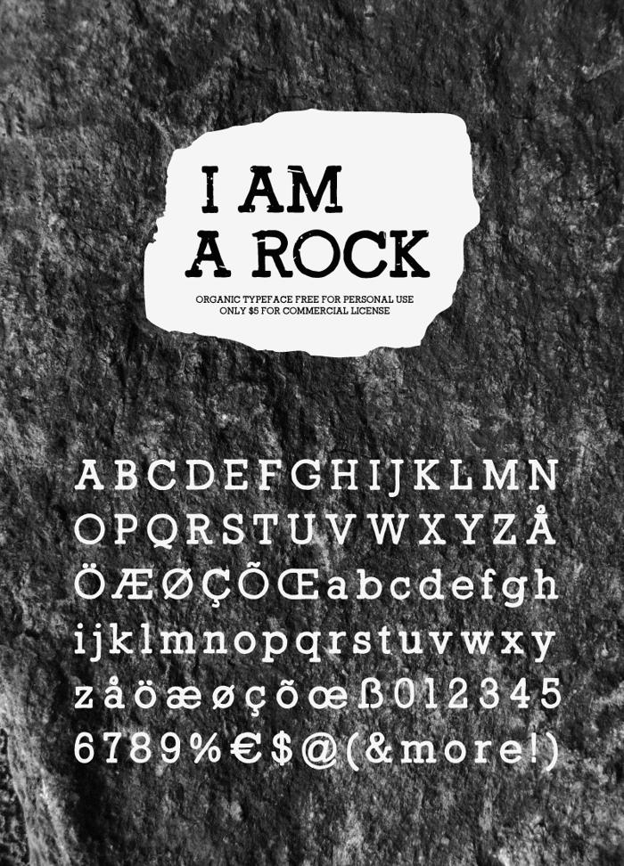 I Am a Rock Font poster