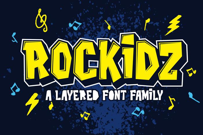 Rockidz Font poster