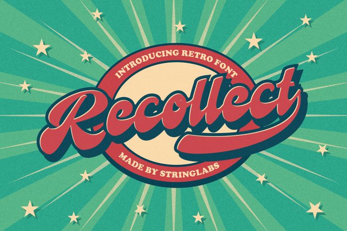 Recollect Font poster