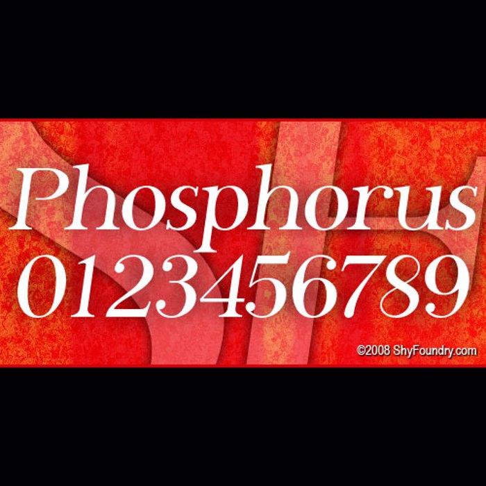 SF Phosphorus Font poster