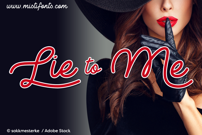 Lie to Me Font poster