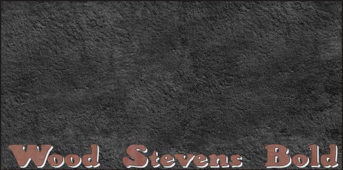 Wood Stevens Bold Font poster