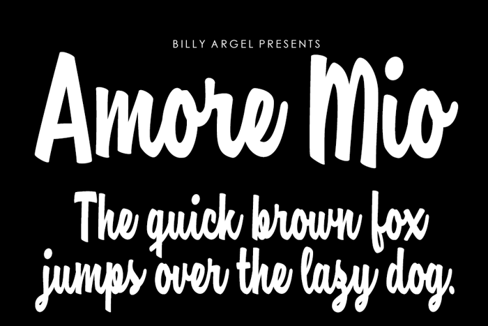 Amore Mio Font poster