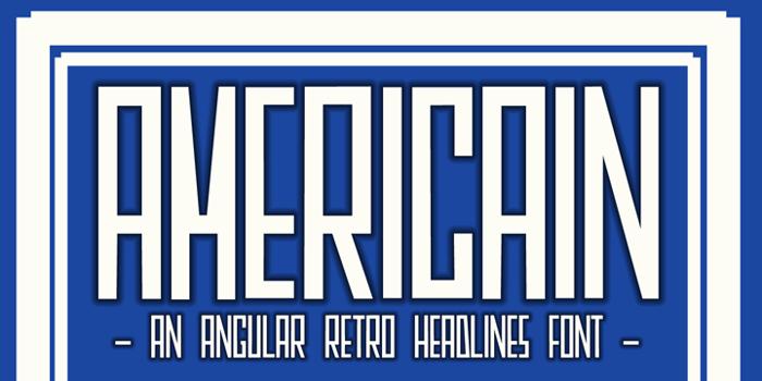 DK Americain Font poster