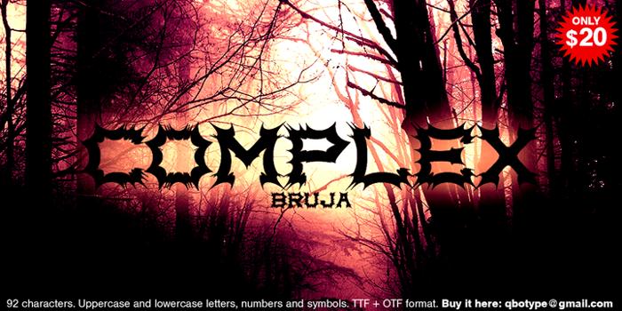 Complex bruja Font poster