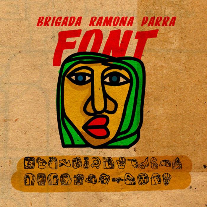 BRIGADA RAMONA PARRA Font poster