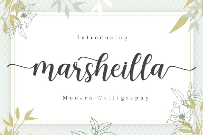 Marsheilla Font poster