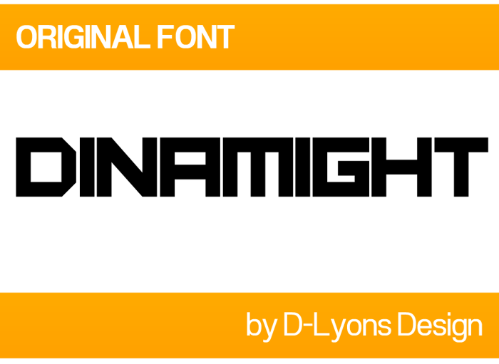 Dinamight Font poster