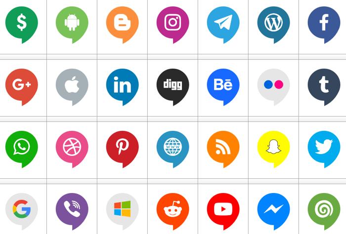 Icons Social Media 14 Font poster