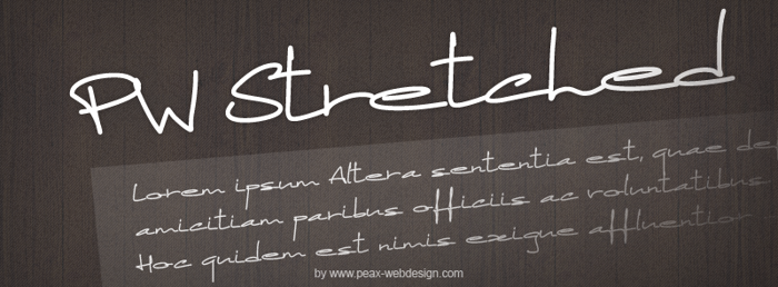 PWStretched Font poster