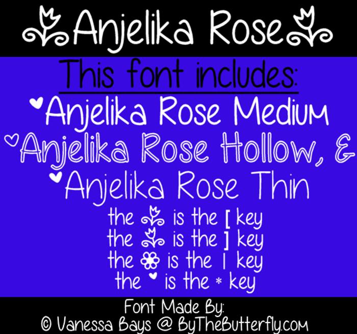Anjelika Rose Font poster