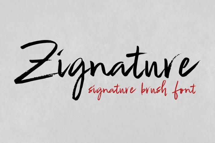 Zignature Font poster
