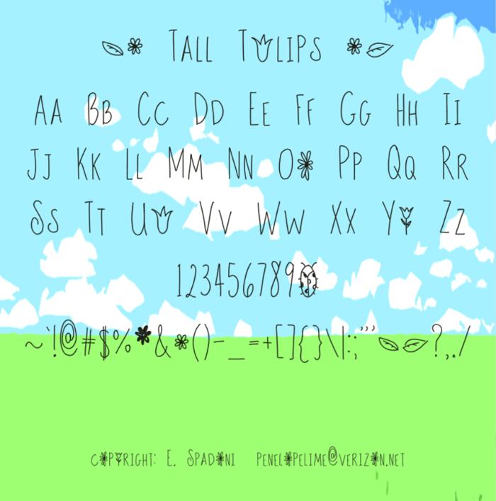 Tall Tulips Font poster