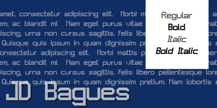JD Bagues Font poster