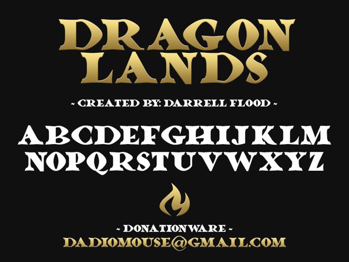 Dragonlands Font poster
