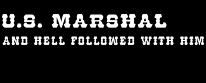 U.S. Marshal Font poster