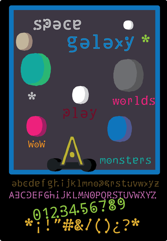 space galaxy Font poster