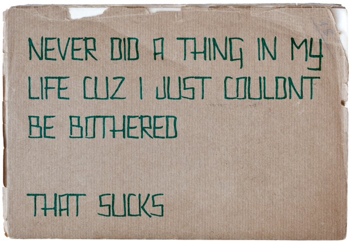Couldnt Be Bothered Font poster
